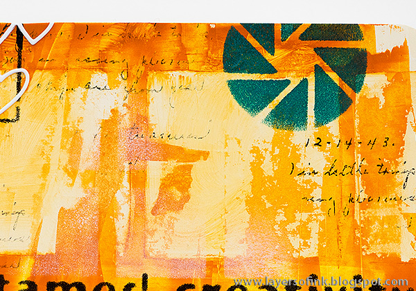 Layers of ink - Old Nonsense Journal Page by Anna-Karin with StencilGirl stencils.
