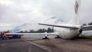 Trigana Air tergelincir di Wamena