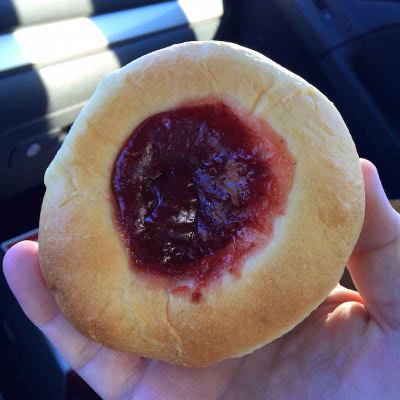 Strawberry kolache at Hruska's Kolaches in Provo, Utah
