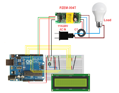 Arduino 220V AC Power meter using PZEM004T