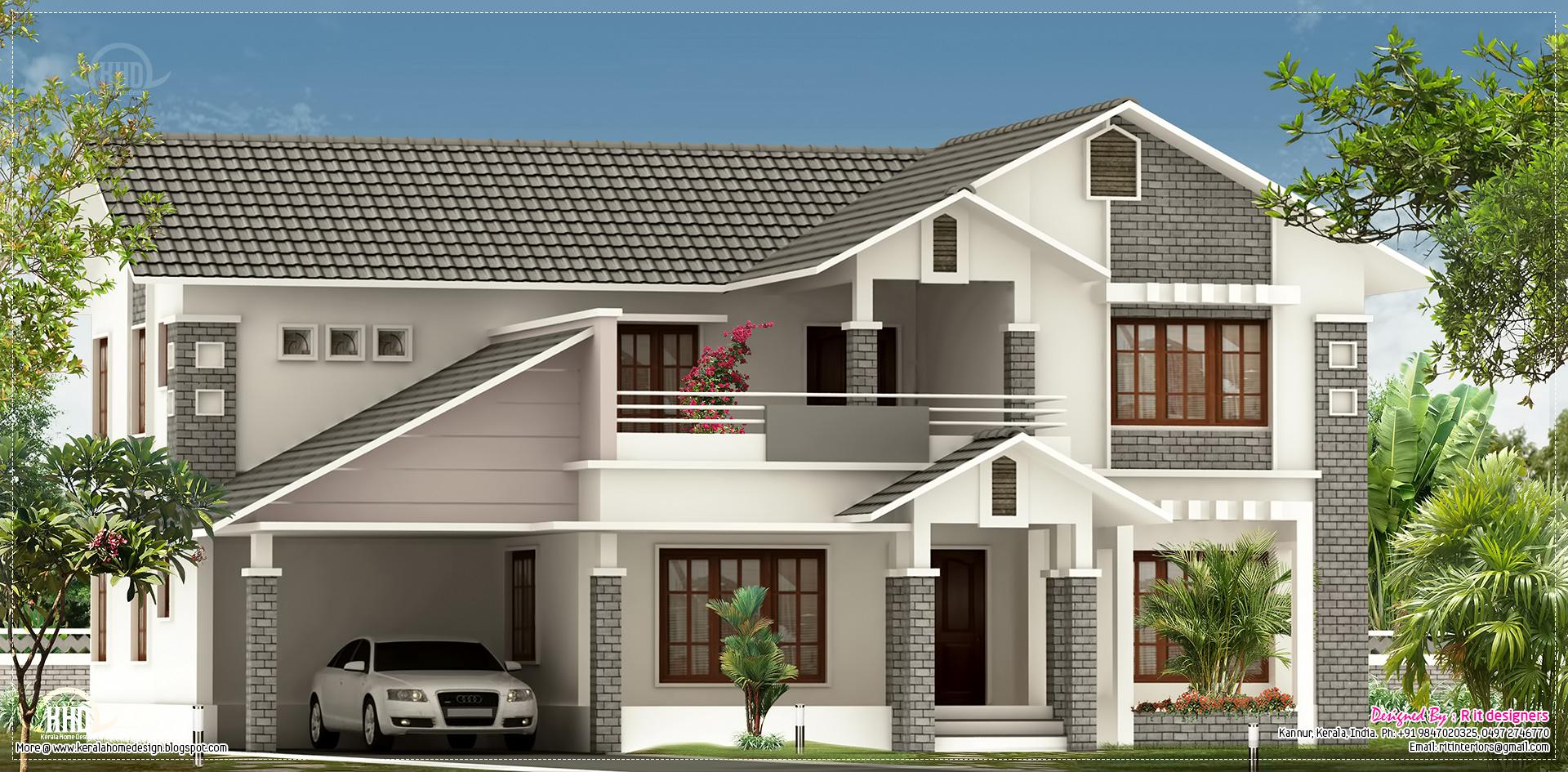 Villa Elevation Design In 2900 Sq.feet