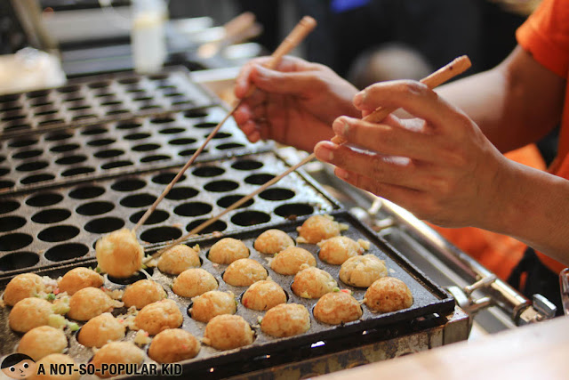 Making Takoyaki in Ichiba