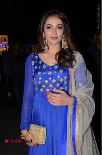Telugu Actress Tejaswi Madivada Pos in Blue Long Dress at Nanna Nenu Na Boyfriends Audio Launch  0036.JPG