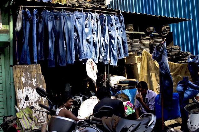 Denim jeans shop street streetphoto mumbai chor bazaar
