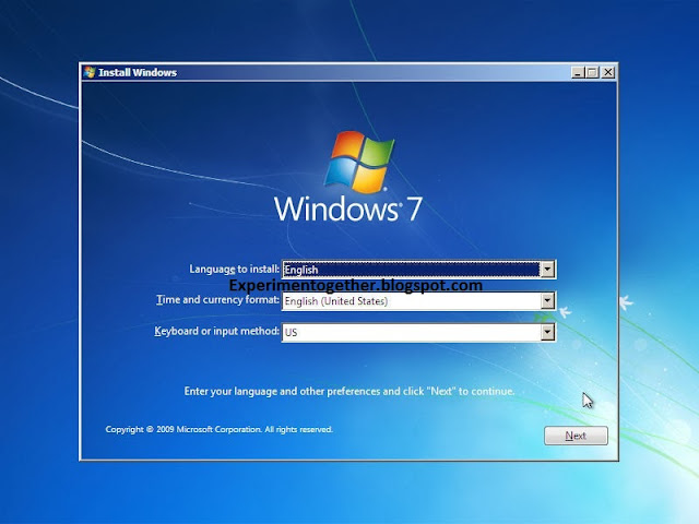 instal ulang Windows,xp,7,8,10 Dari Flashdisk Experimen bersama