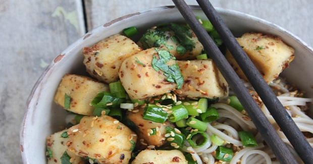 Szechuan Tofu With Soba Noodles Recipe