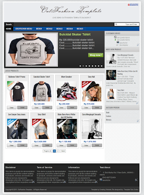 OutFashion Template Blogspot Gratis