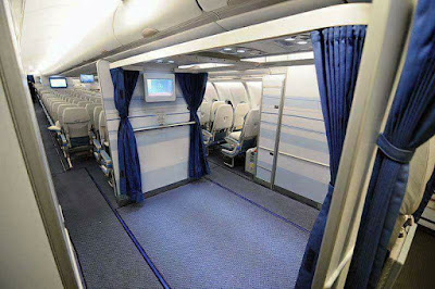 Saudi Airlines replace seat spaces on their planes with mosque