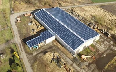 luftbild pv anlage pva direktinvestment fertiggestellt 7,8% prozent ertrag einheiten parzellen pacht dach solar umweltfonds hochrentabel