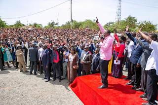 President Uhuru Kenyatta in rally at Central Kenya. PHOTO | PSCU