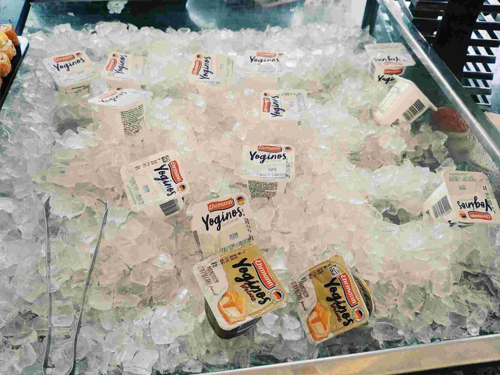 Unlimited Yoginos yogurt at Acaci Cafe in Acacia Hotel