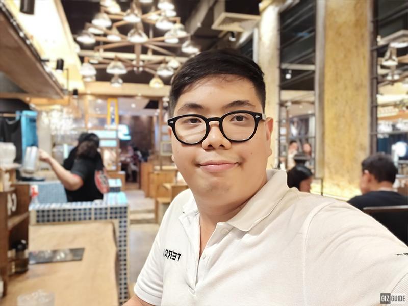 Selfie indoor portrait