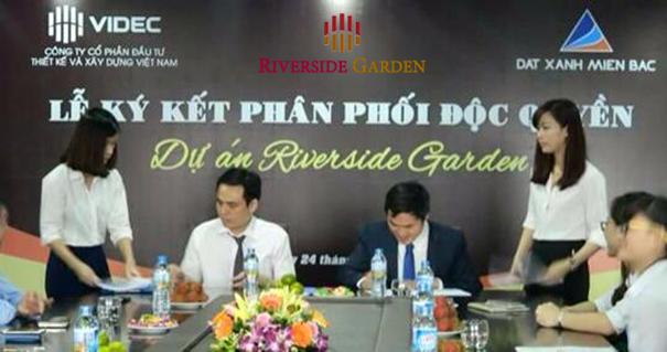 Lễ ký kết hợp đồng phân phối chung cư Riverside Garden