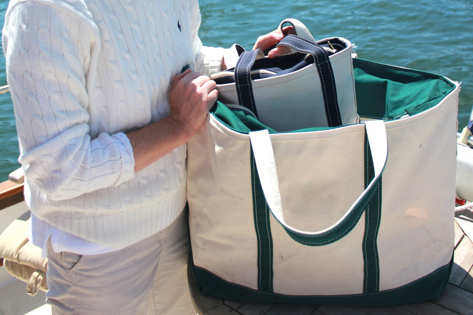 903df62e6f11 Salt Water New England  Canvas Boat Bags and The L.L. Bean Boat and ...