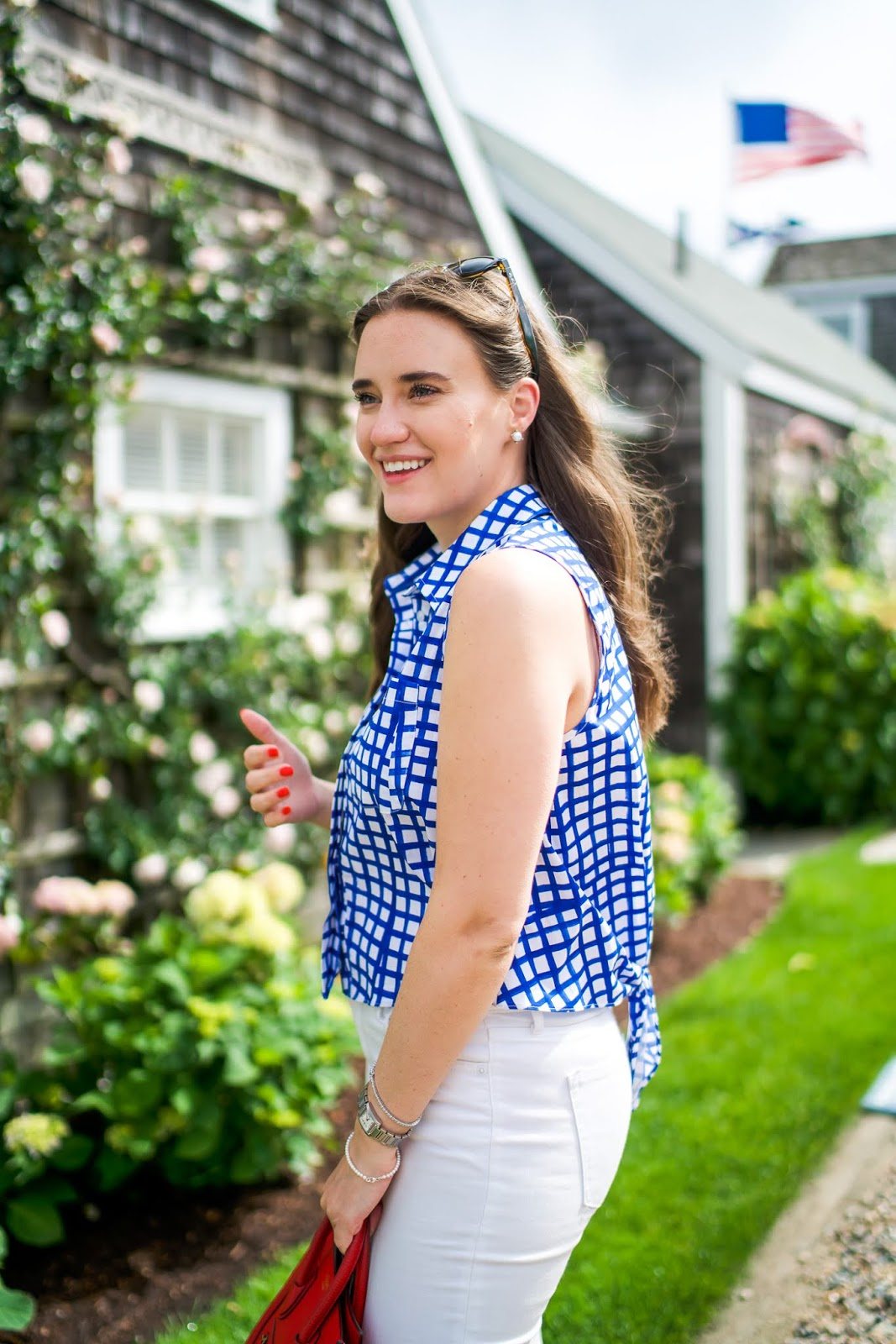 The Perfect Summer Outfit for a Stroll in Nantucket featured by popular New York fashion blogger, Covering the Bases