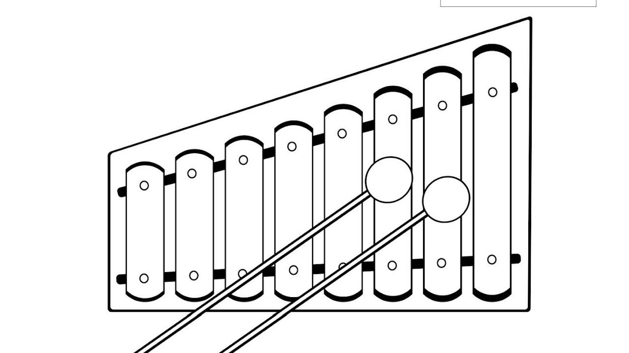 Menebalkan Huruf X Dan Mewarnai Gambar Xylophone