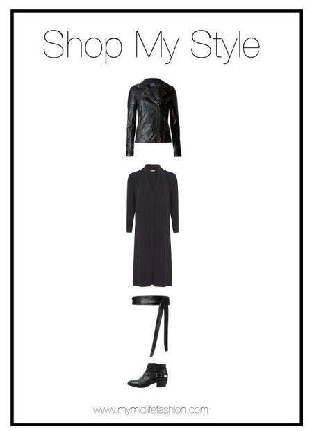 My Midlife Fashion, Shop My Style, Marks and spencer faux leather biker jacket, hush amelia studded ankle boots, baukjen leather wrap belt, marks and spencer faux leather biker jacket