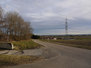 Alpenblick über Arzbach und München hinweg