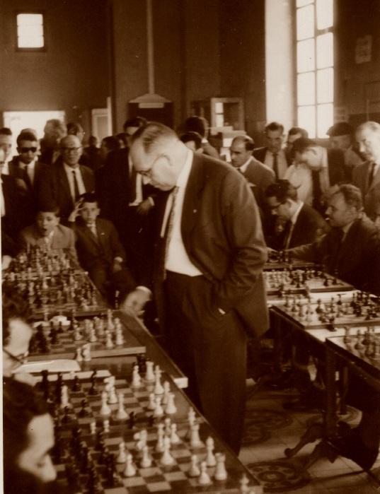 Simultáneas de ajedrez de Àngel Ribera en 1961
