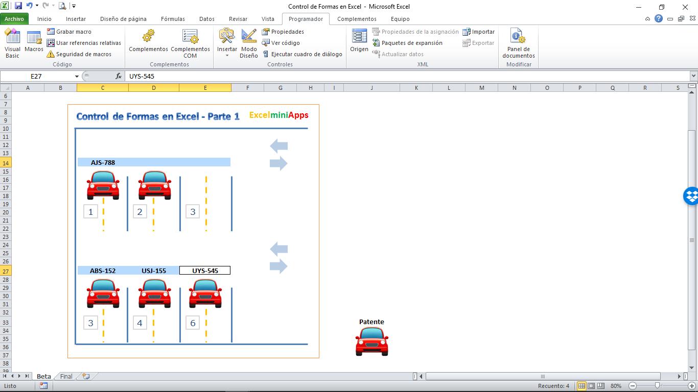 Mini Aplicaciones En Excel Control De Formas En Excel