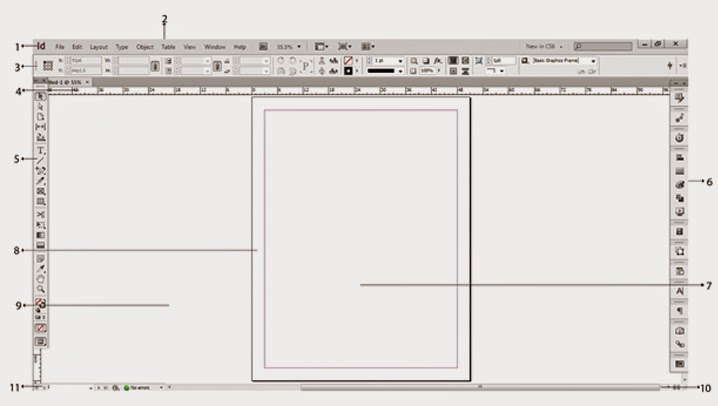 Làm quen với giao diện của Adobe Indesign