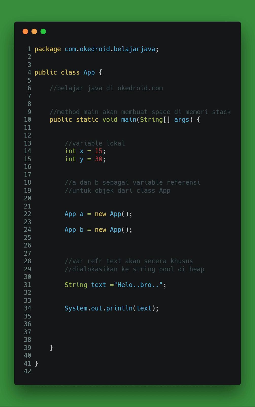 contoh code untuk pengalokasian memori apa itu fungsi perbedaan perbandingan stack dan heap di program java