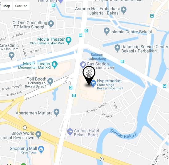 Screen Shot google map 3store Bekasi Megamall