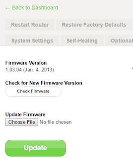cara memperkuat sinyal wifi rumah dengan update firmware
