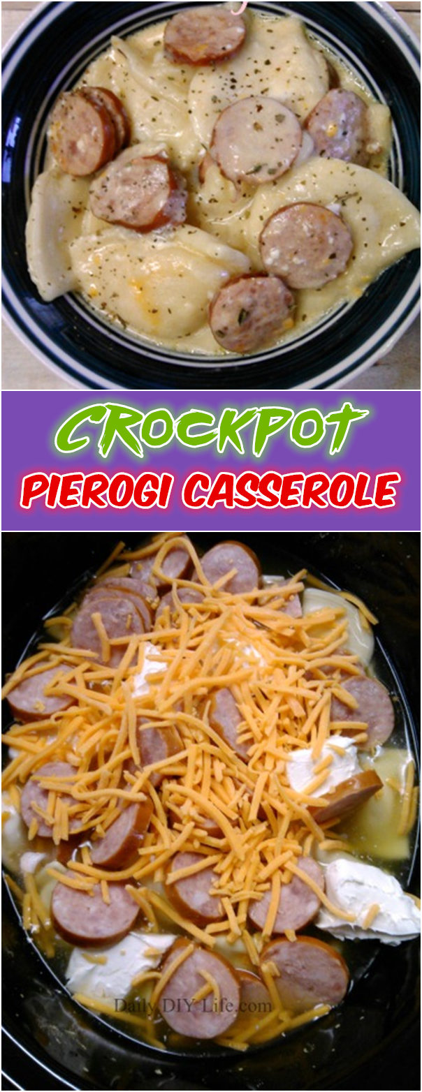 Crockpot Pierogi Casserole with Kielbasa - 30 Crock Pot Recipes that you have to try this year 2018 - Lieu.Tech
