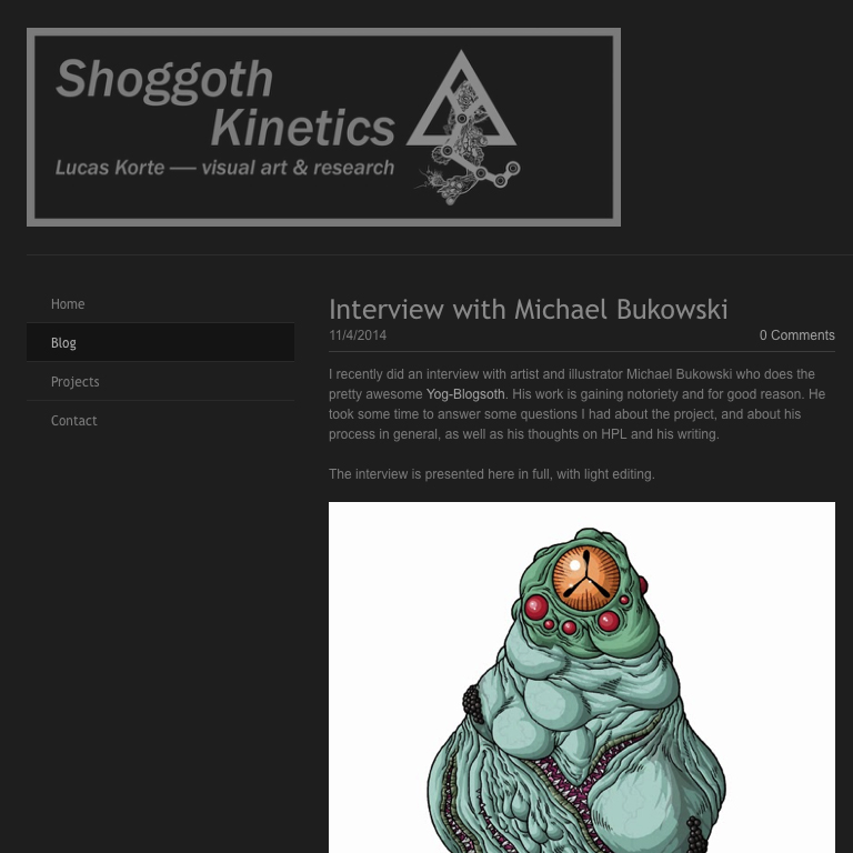 http://shoggothkinetics.weebly.com/blog/interview-with-michael-bukowski