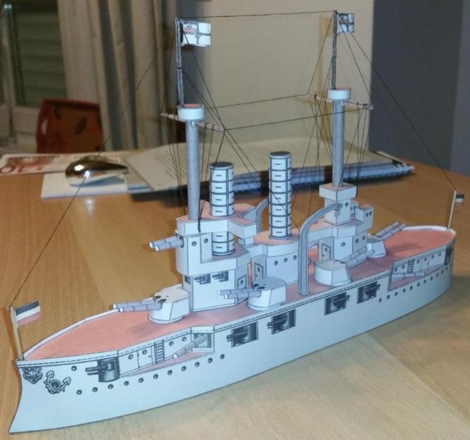 PAPERMAU: 1915`s Battleship - A Vintage Paper Model - by
