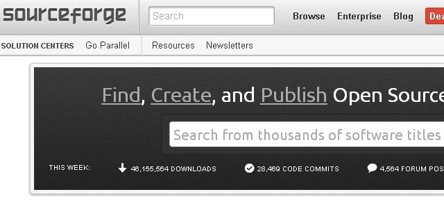 SourceForge - Solo Nuevas