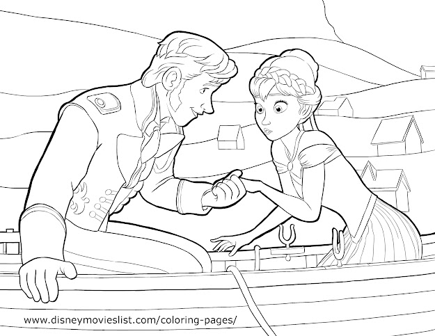 Frozen Anna  Prince Hans Coloring Page