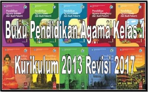 Buku Pendidikan Agama Kelas 1 Kurikulum 2013 Revisi 2017