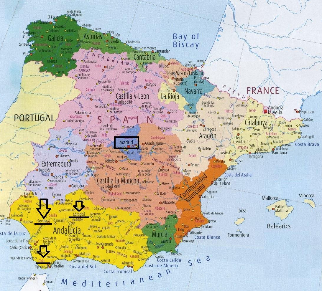 mapa de portugal e espanha juntos Tozzi Por Aí: Sevilha mapa de portugal e espanha juntos