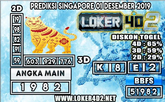 PREDIKSI TOGEL SINGAPORE LOKER4D 2 01 DESEMBER  2019