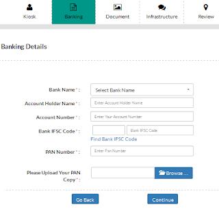 CSC Online Registration -Banking Details