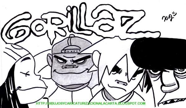 Murdoc Gorillaz Demon Days dibujos y caricaturiza...