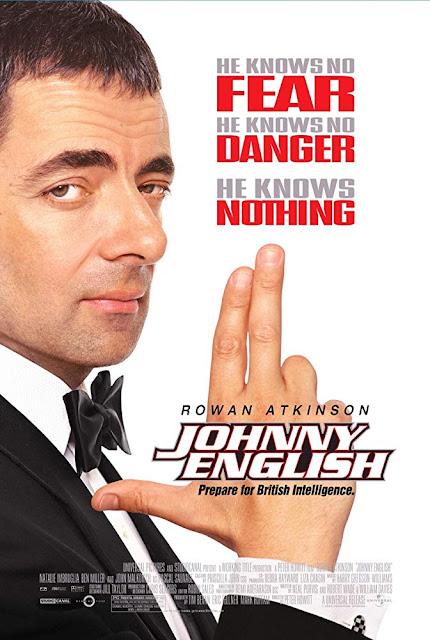 Johnny English 2003 movie poster Rowan Atkinson