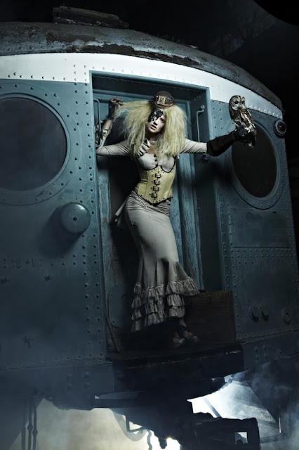 steampunk cyberpunk dieselpunk clothing fashion womens lace mask costume