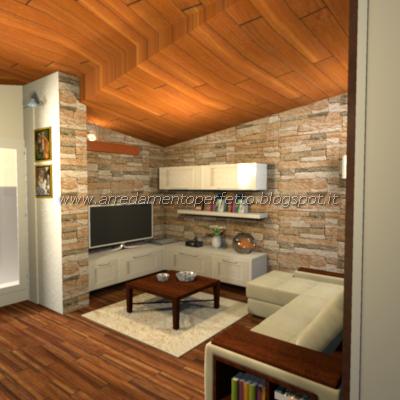 Consigli darredo: La cucina soggiorno in mansarda in stile ...