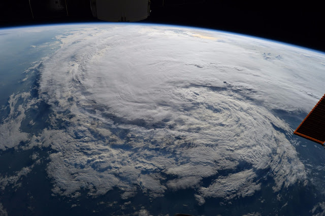 Tropical Storm Harvey seen from the International Space Station