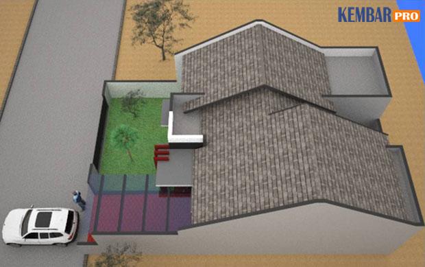 Rumah Minimalis-Gambar Atas (Atap) Type 72