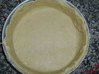 Cubriendo el molde con masa de pizza