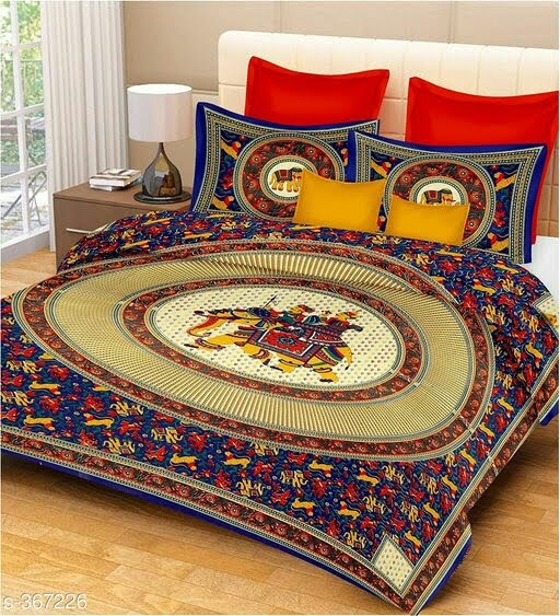 Stylish Cotton Double Bedsheet