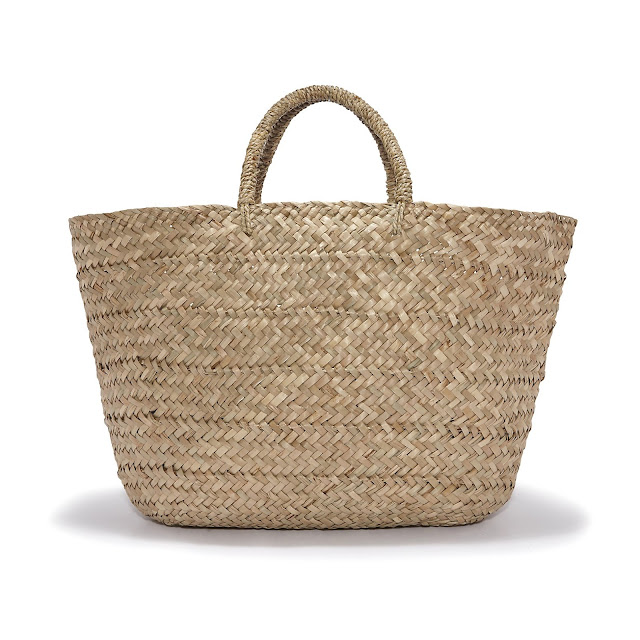 The White Company Straw Basket Bag