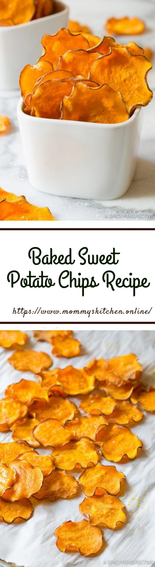 Baked Sweet Potato Chips Recipe #healthymeals #crispyrecipe