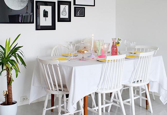 Vivir con nios en una casa blanca y con colores pastel