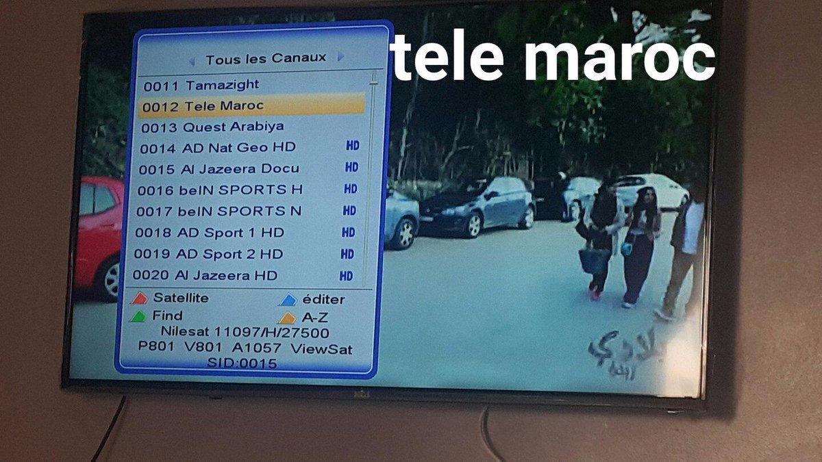 تردد قناة Télé Maroc على نايلسات وهوت بيرد لرشيد نيني القناة