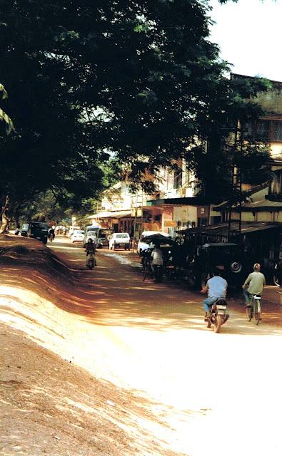 Vientiane boulevard in 1997 in Central Laos